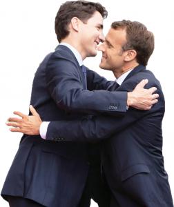 Trudeau and Macron