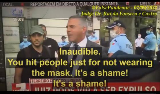 Judge Dr. Rui da Fonseca e Castro confronts cops in Portugal
