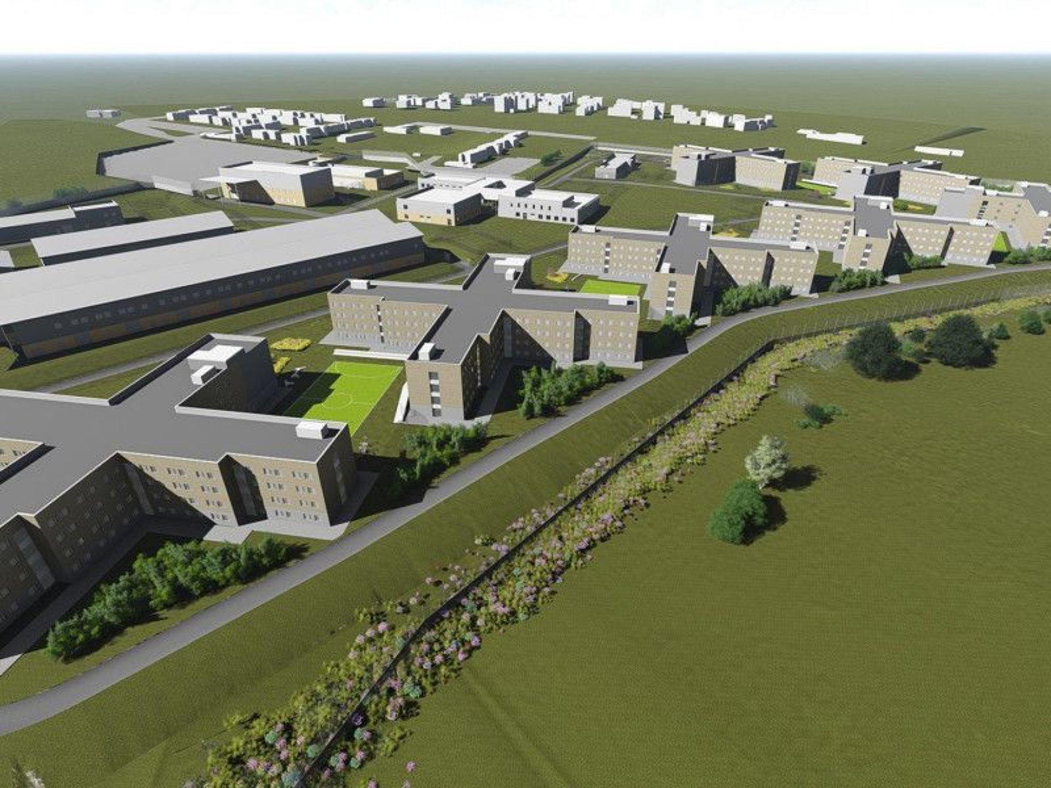 """Wellingborough """"mega prison"""" (internment camp) Britain"""
